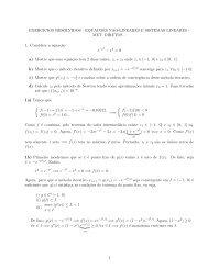 EXERCICIOS RESOLVIDOS - EQUACOES NAO-LINEARES E ...