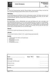 Lineare Bewegung Physikalisches Praktikum M 2..-1 Ziel ... - hknoll.ch