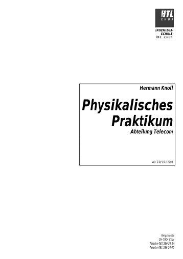 Physikalisches Praktikum - hknoll.ch