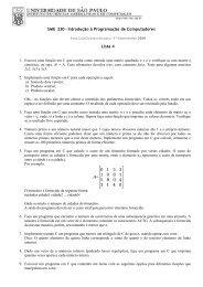 SME 230 - Introdução à Programação de Computadores Lista 4 A ...