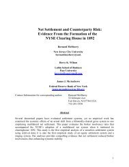 Net Settlement and Counterparty Risk: Evidence From the Formation ...