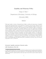 Liquidity and Monetary Policy Sergio A. Salas † Department of ...