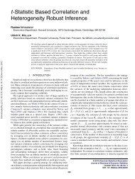 Correlation and Heterogeneity Robust Inference using ...