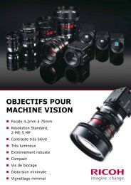 OBJECTIFS pOur maChInE vISIOn - Security Systems - Pentax