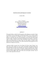 Social Interactions and Endogenous Association - Department of ...