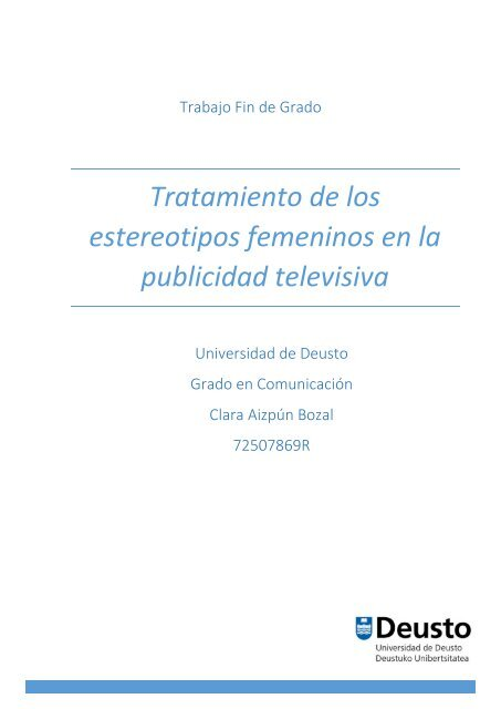 La Publicidad En Los De Televisiva Tratamiento Femeninos Estereotipos OXNw80knP