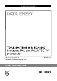 Integrated PAL and PAL/NTSC TV processors - Datasheetz