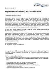 Zusammenfassung Bericht 2010 der Fachstelle für ... - Schule Benken