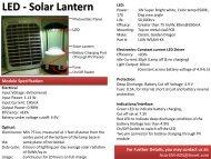 LED - Solar Lantern - Avnet Electronics Marketing