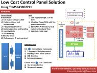 Low Cost Control Panel Solution