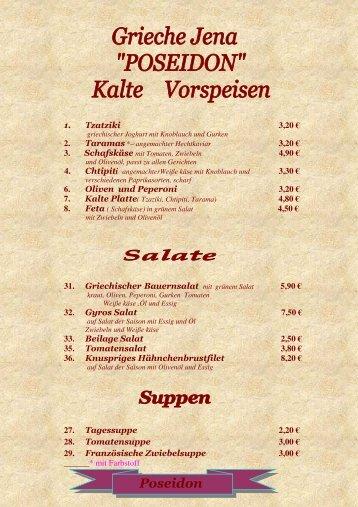 Saucen- Extra Portion - Poseidon-Griechisches Restaurant-Der ...