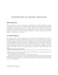 Conservation of genetic resources - Kent