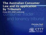 Consumer, Trader and Tenancy Tribunal Act 2001