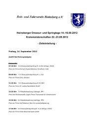 16.09.2012 Kreismeisterschaften 22.-23.09.2012 - Zeiteinteilung