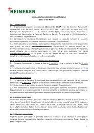 Locatii activare WOB - Heineken Romania