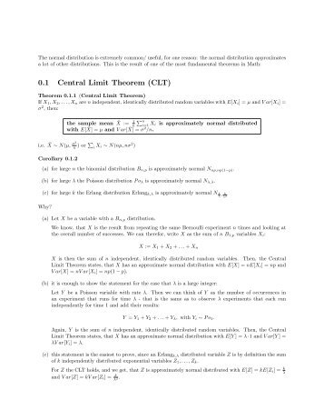0.1 Central Limit Theorem (CLT)