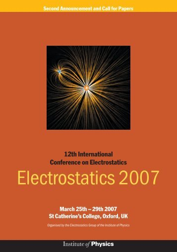 Electrostatics 2007 - ESD Journal