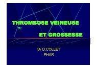 THROMBOSE VEINEUSE ET GROSSESSE - reannecy.org