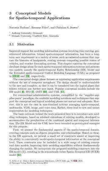 Conceptual Models for Spatio-temporal Applications - Spatial ...