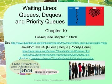 Queues, Deques and Priority Queues - Spatial Database Group
