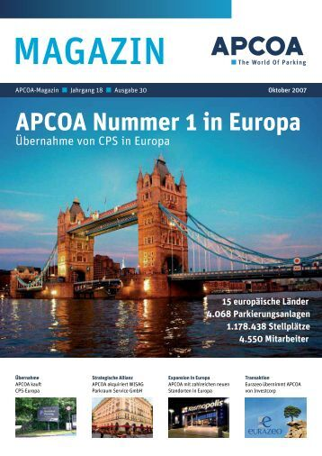 APCOA Nummer 1 in Europa - APCOA - The World of Parking