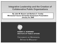 Integrative Leadership and the Creation of Collaborative Public ...