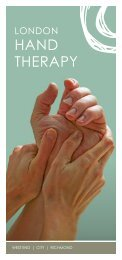West end | CIty | RICHmond - London Hand Therapy