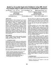 Modelling Geospatial Application Databases using UML-based ...