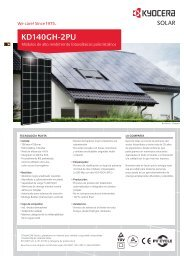 Ficha técnica panel fotovoltaico Kyocera ... - SunFields Europe