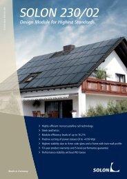 Datasheet SOLON 230/02 Solar panels – 245-250W Mono Black
