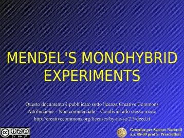 1. Mendel's experiments