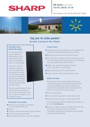 Say yes to solar power! - SunFields Photovoltaic supply