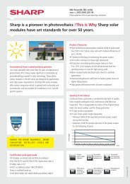 Datasheet solar panel SHARP ND-R245A6 Black-Black ...