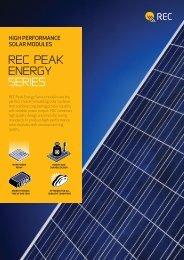 rec Peak energy SERIES - SunFields Photovoltaic supply
