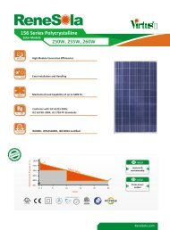 Datasheet solar panel Renesola JC250-255 ... - SunFields Europe