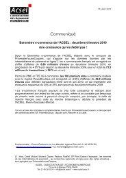 Baromètre e-commerce ACSEL T2 2010