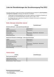 Dienstleistungspalette der Post (PDF, 119 KB) - PostCom