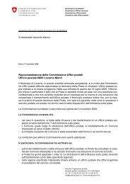 Ufficio postale Locarno Monti - PostCom - admin.ch