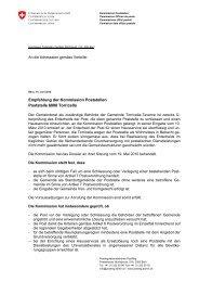 Kommission Poststellen, PostReg, Monbijoustr - admin.ch