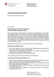 Feldis / Veulden (GR) - Sitzung 5. Juni 2007 - PostReg - admin.ch