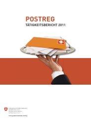 Tätigkeitsbericht der Postregulationsbehörde PostReg ... - PostCom