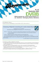 Nr. 42 September 2009 - DVMB Landesverband Bayern eV