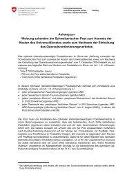 Anhang zur Weisung zuhanden der Schweizerischen ... - PostCom