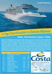 Costa ATLANTICA - Martin-Reisen