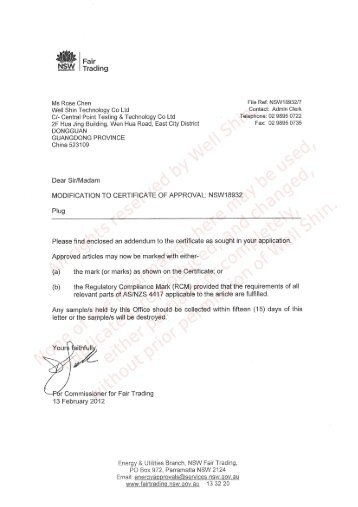 Approval Certs