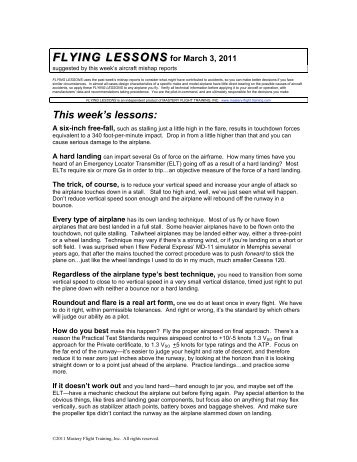 FLYING LESSONS - Mastery Flight Training