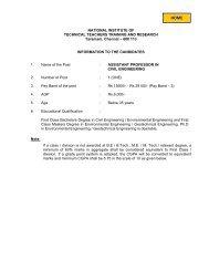 Assistant Professor in Civil Engineering - National Institute of ...