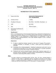 Associate Professor of Civil Engineering - National Institute of ...