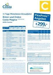 Costa Kreuzfahrten Katalog  2013 Reisen - DieKreuzfahrtSpezialistin
