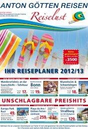 IHR REISEPLANER 2012/13 - Anton Götten Reisen